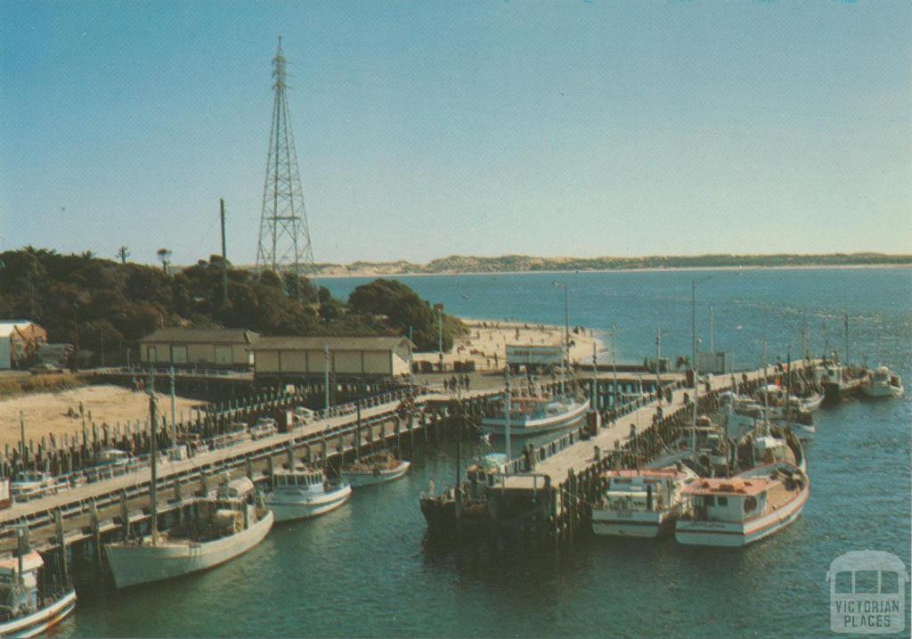 The fishing fleet at the wharf, San Remo
