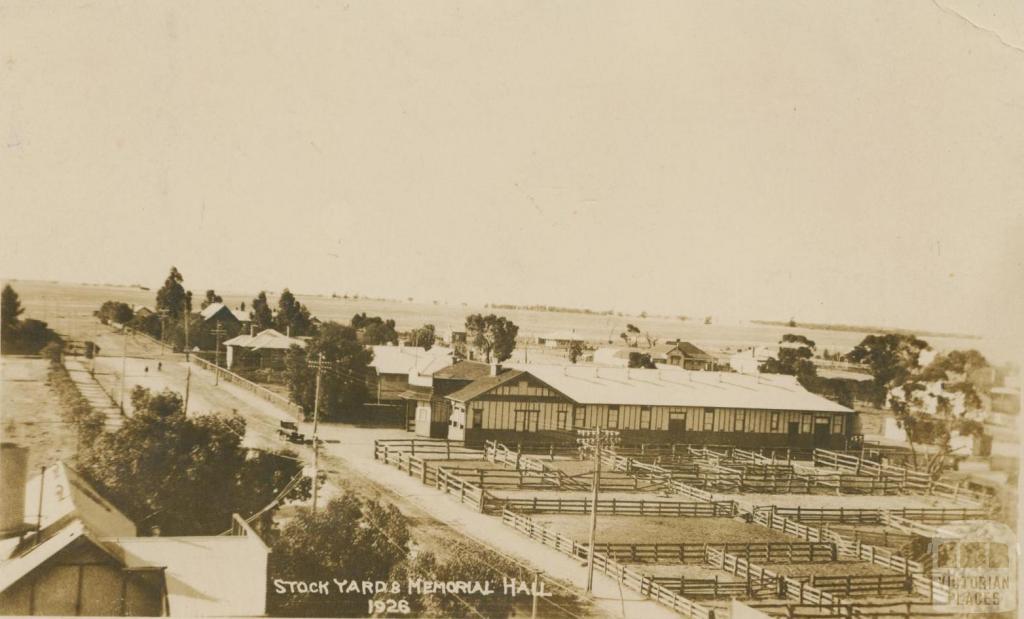 Stock Yard and Memorial Hall, Sea Lake, 1926