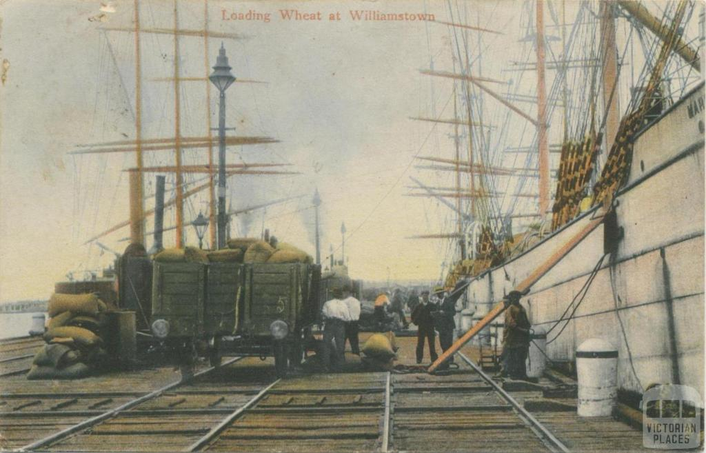 Loading wheat at Williamstown, 1907