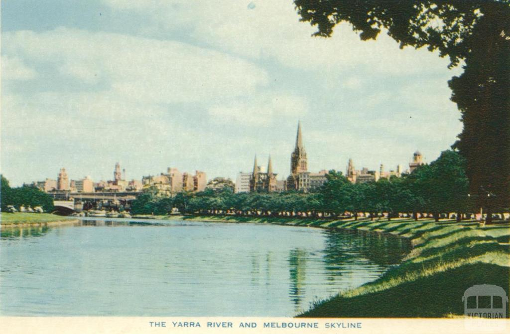 The Yarra River and Melbourne skyline