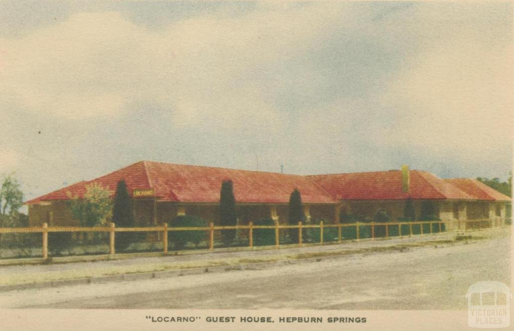 Locarno Guest House, Hepburn Springs, 1948