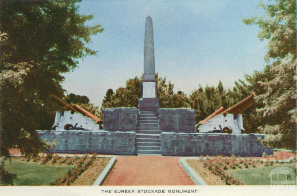 The Eureka Stockade Monument, Ballarat, 1958