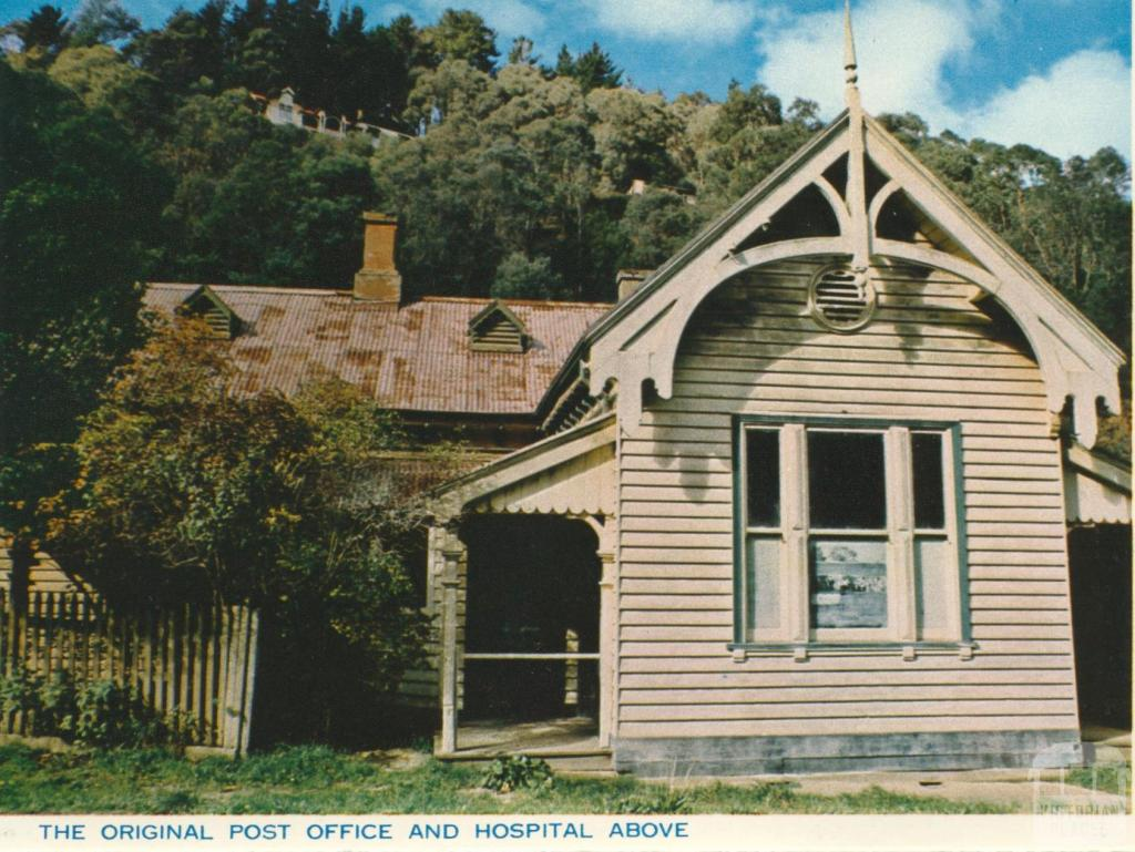 Post office and hospital, Walhalla