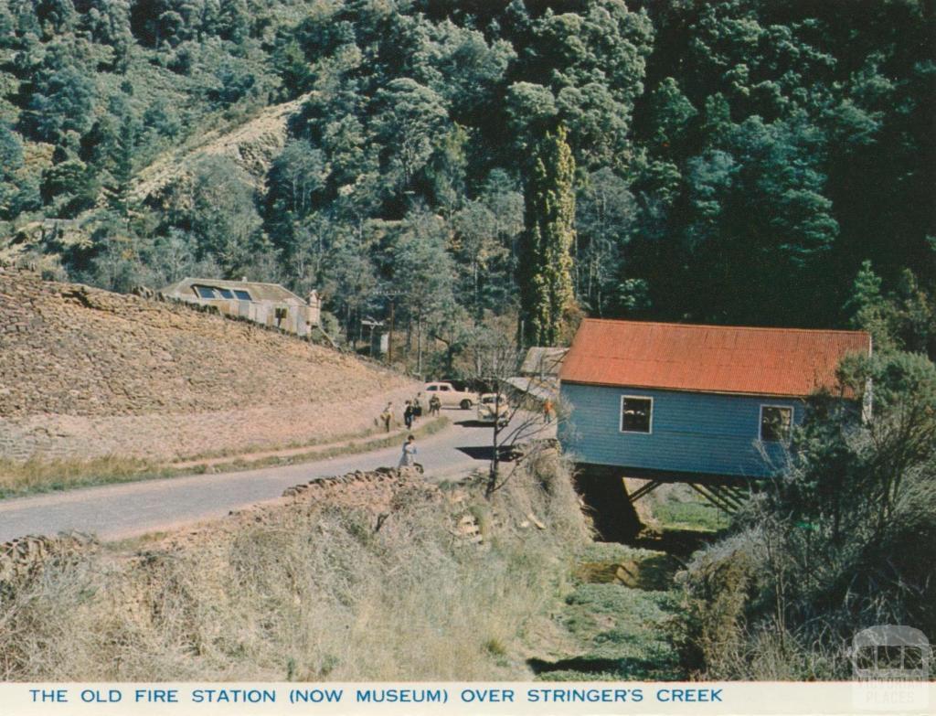 Old fire station over Stringer's Creek, Walhalla
