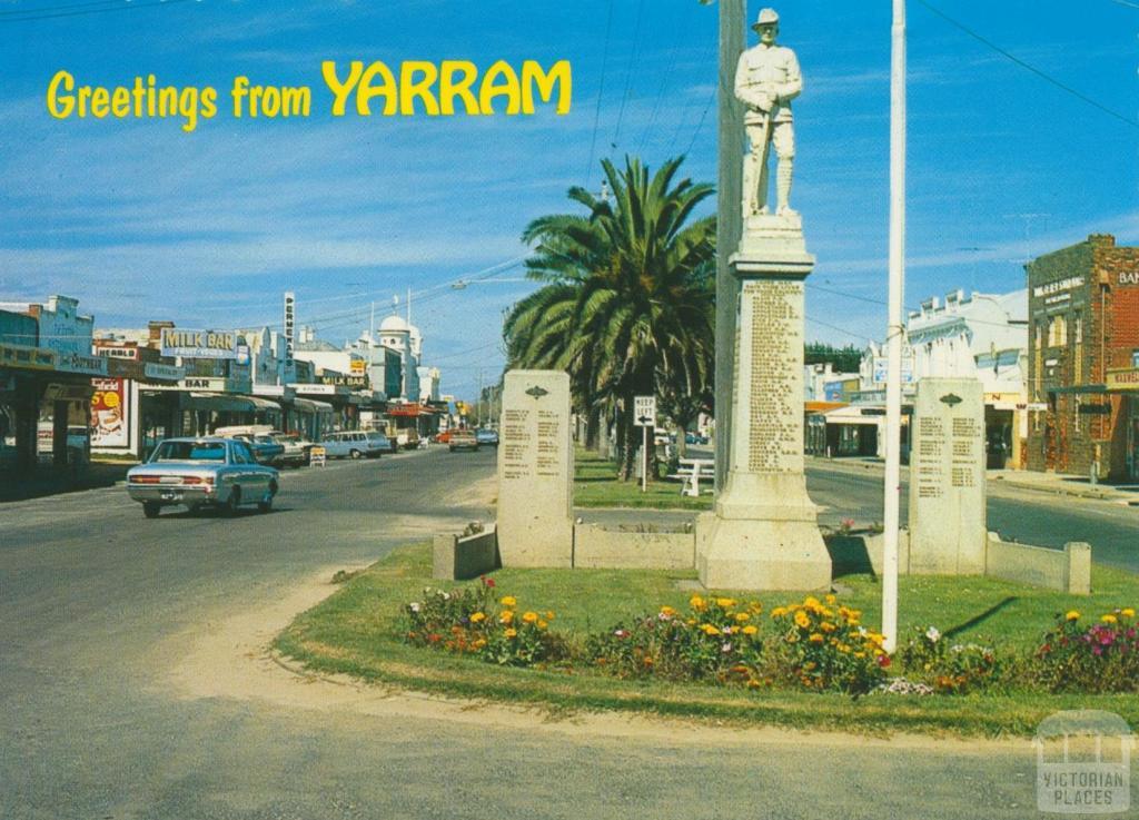 Commercial Road and War Memorial, Yarram