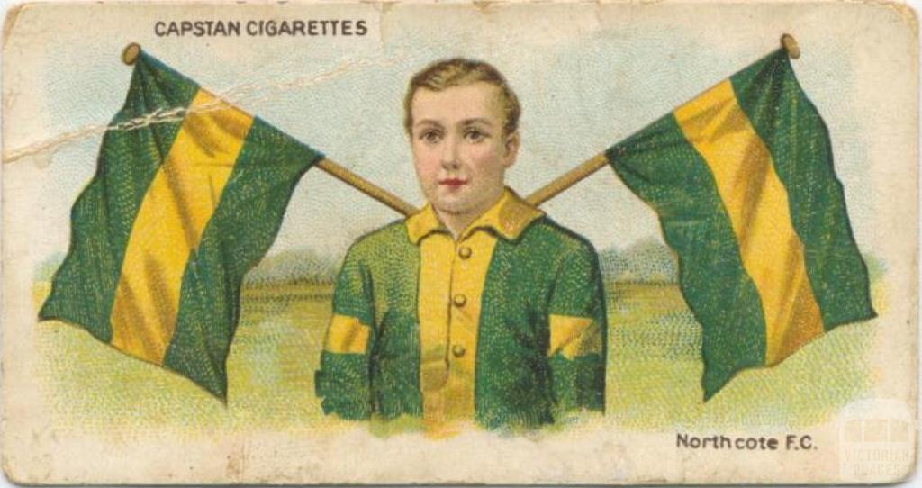 Northcote Football Club, Capstan Cigarettes Card