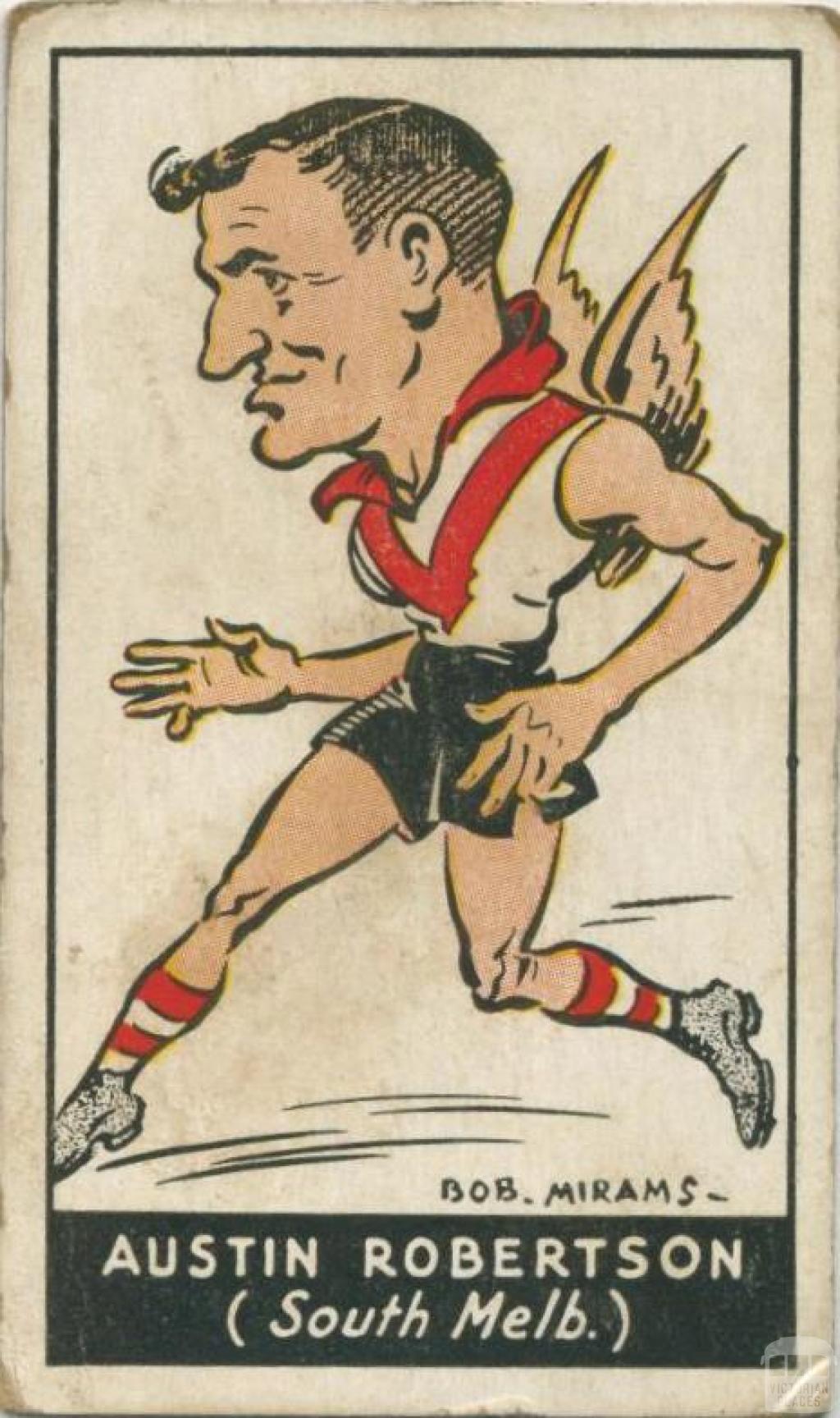 Austin Robertson, South Melbourne Football Club, Standard Cigarettes Card