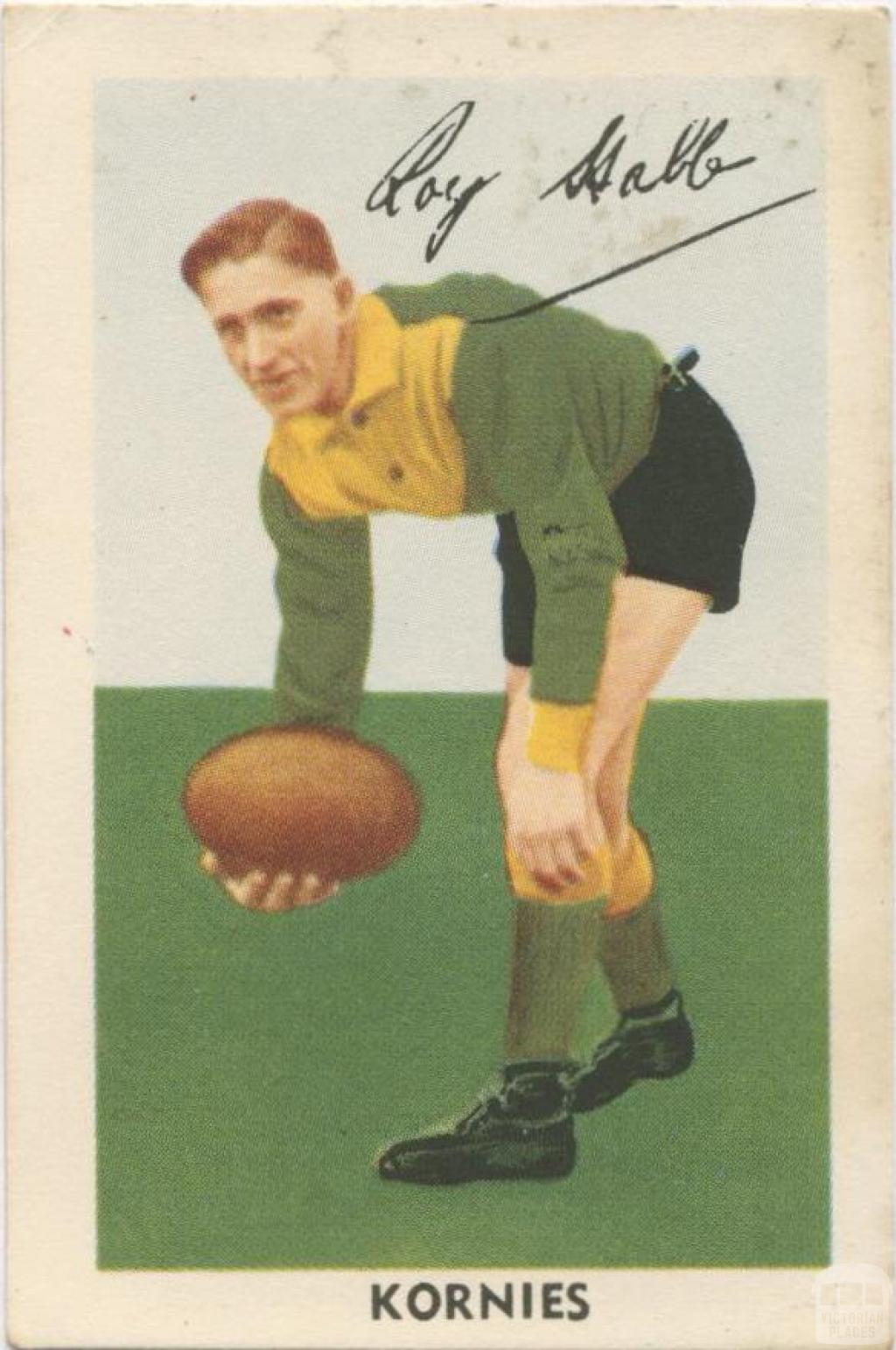 Roy Stabb, Northcote Football Club, Kornies Card