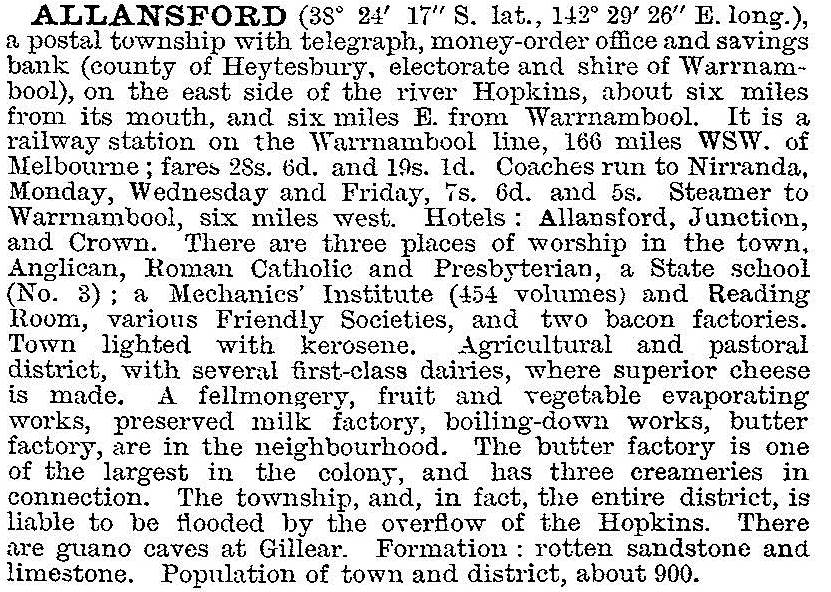 Allansford | Victorian Places